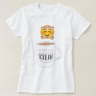 T-shirt d'emoji de café