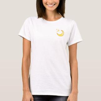 T-shirt d'Emoji de lune et d'étincelle