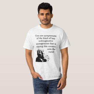 T-shirt dénué d'imagination de gestion du travail
