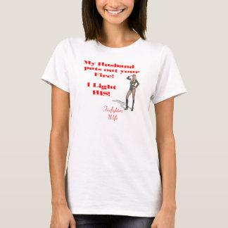 T-shirt d'épouse de sapeur-pompier