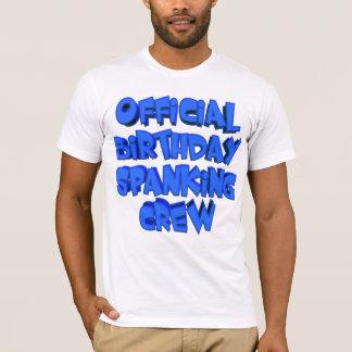 T-shirt d'équipage de fessée d'anniversaire