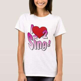 T-shirt Des chanteurs, j'aime 2 chante