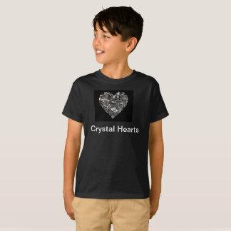 T-shirt des coeurs TAGLESS de cristal des enfants