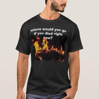 T-shirt des images, où iriez-vous si vous mouriez en ce