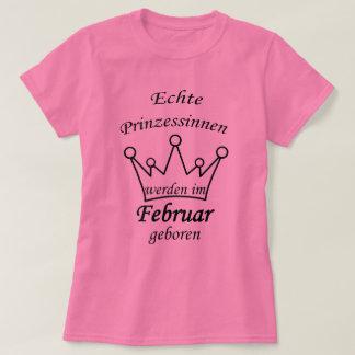 T-shirt Des véritables princesses sont mises au monde en
