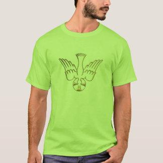 T-shirt Descente d'or du symbole de Saint-Esprit