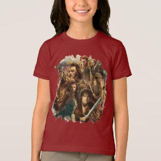 T-shirt Désolation des caractères de Smaug