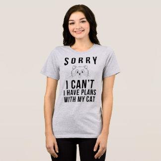 T-shirt désolé je ne peux pas j'avoir des plans