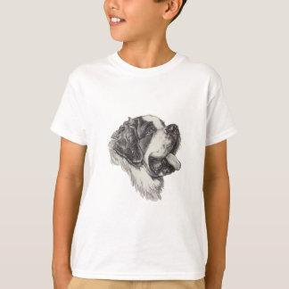 T-shirt Dessin de portrait de profil de chien de St