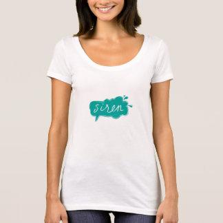 T-shirt Dessus court Teal de douille de SIRÈNE