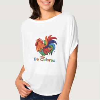 T-shirt Dessus de cercle de Flowy des femmes de De Colores