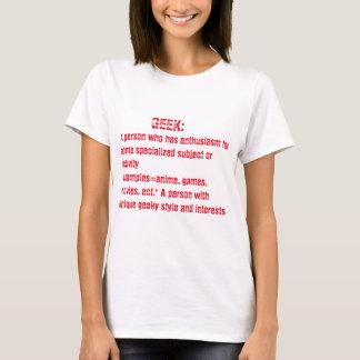 T-shirt dessus de geek