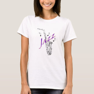 T-shirt Dessus de spaghetti de dames de jazz