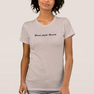 T-shirt Dessus léger noir de spaghetti de beauté