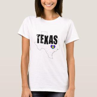 T-shirt Dessus vintage de coeur du Texas