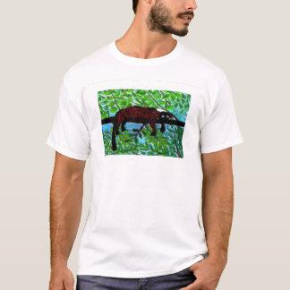 T-shirt Détente d'animal sauvage d'art de lémur