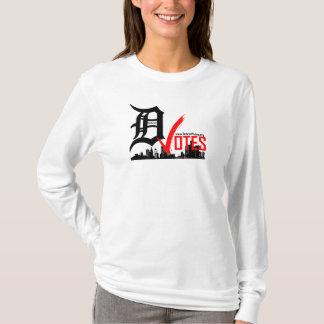 T-shirt Detroit vote la longue douille de dames