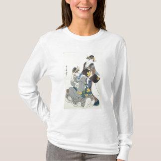 T-shirt Deux figures femelles