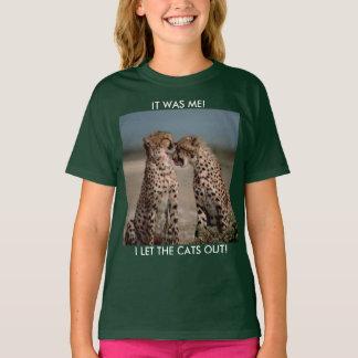 T-shirt Deux grands chats