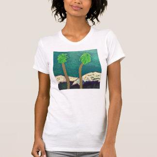 T-shirt Deux palmiers et la chemise de montagnes de Milou