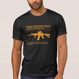 T-shirt Deuxième amendement/AR-15/police