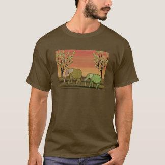 T-shirt d'habitat de faune d'éléphants