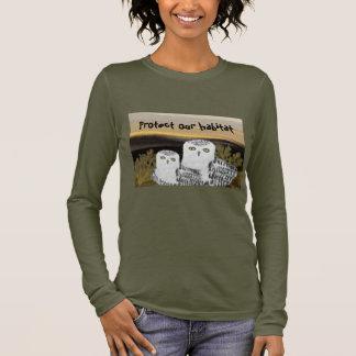 T-shirt d'habitat de hibou de Milou