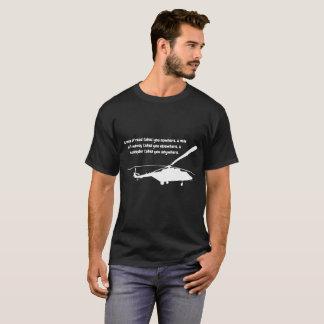 T-shirt d'hélicoptère avec la citation