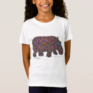 T-shirt d'hippopotame de filles