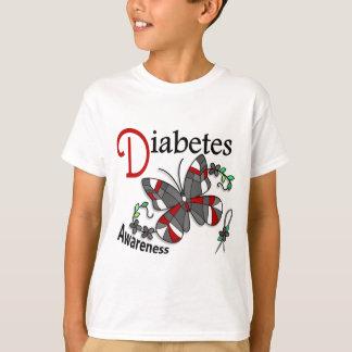 T-shirt Diabète du papillon 2 en verre souillé