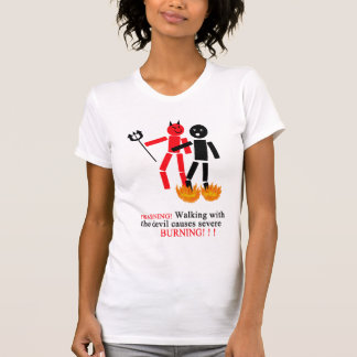 T-shirt diable de la promenade W de vinnies le plus tard