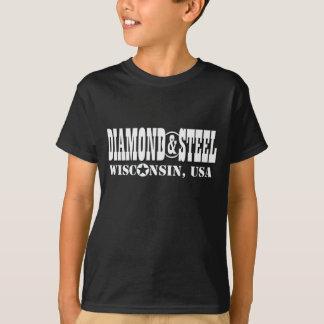 T-shirt Diamant et acier - le Wisconsin Etats-Unis