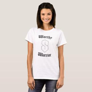 T-shirt Digne guerrière de femme superbe