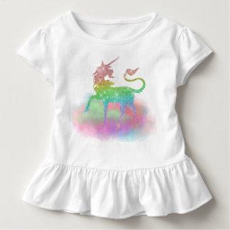 T-shirt d'imaginaire de licorne d'arc-en-ciel