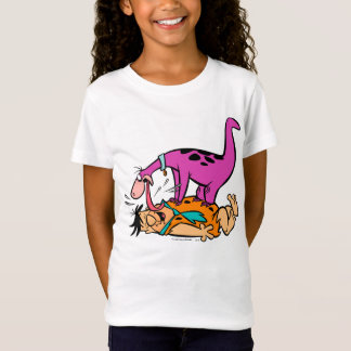 T-Shirt Dino léchant le Flintstone de Fred