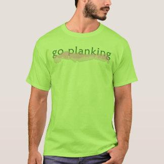 T-shirt Disparaissent le logo de Planking