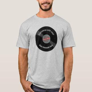 T-shirt Disque vinyle customisé