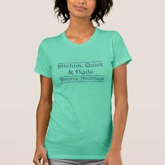 T-shirt Ditchim, vite et Hyde - bleu sur le blanc