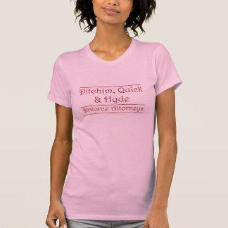 T-shirt Ditchim, vite et Hyde - rouge foncé sur le blanc