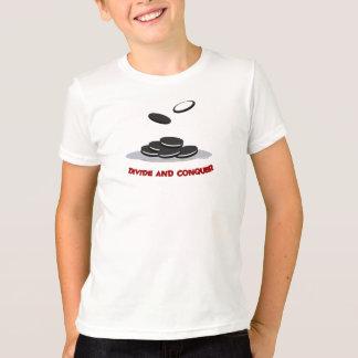 T-shirt Divisez et conquérez la pièce en t d'enfants