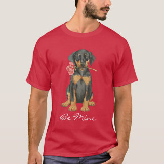 T-shirt Dobermann rose de Valentine