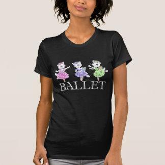 T-shirt d'obscurité de chats de ballet