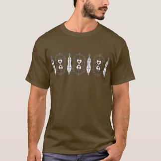 T-shirt d'obscurité de dulcimer de la montagne des