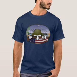 T-shirt d'obscurité de Kilroy de la guerre