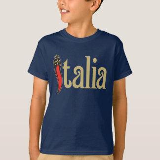 T-shirt d'obscurité de l'Italie