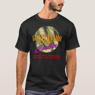 T-shirt d'obscurité du Cuba de café de Guantanamo