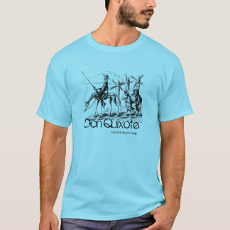 T-shirt Don don Quichotte et Sancho Panza encrent l'art de