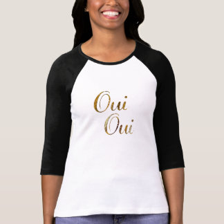 T-shirt d'or de la France de Français d'oui chic