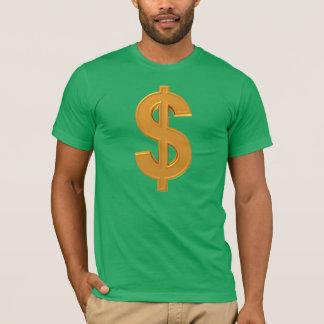 T-shirt d'or de symbole dollar !