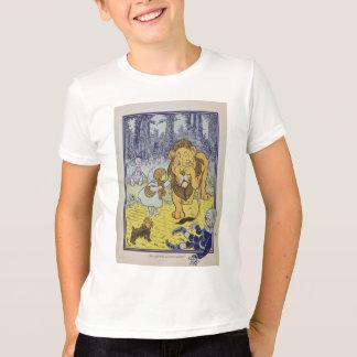 T-shirt Dorothy et le lion lâche de magicien d'Oz